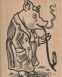 Pig Smoking Pipe 1 3/4 x 2 1/4-0