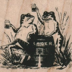 Frogs Drinking 2 1/4 x 2-0