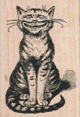 Cheshire Cat Sitting 2 1/2 x 3 1/2-0