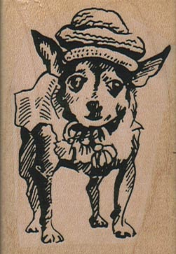 Chihuahua Dog With Hat 1 3/4 x 2 1/2-0