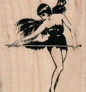 Showgirl with Baton 2 1/4 x 3-0