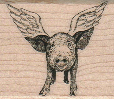 Winged Pigs/Small 2 1/4 x 2 1/2-0