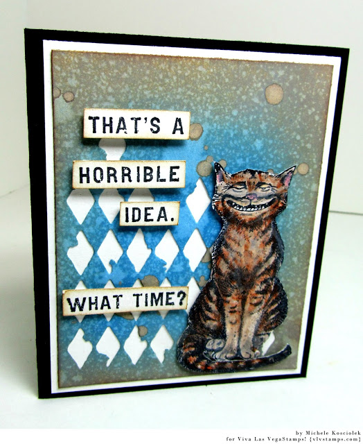 Cheshire Cat Sitting 2 1/2 x 3 1/2-91224