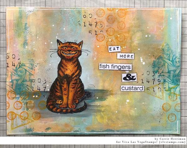 Cheshire Cat Sitting 2 1/2 x 3 1/2-64070