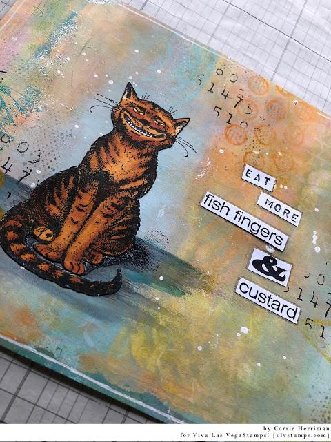Cheshire Cat Sitting 2 1/2 x 3 1/2-64069