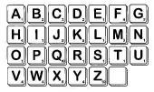 Scrabble Alphabet Unmounted Regular Size-0
