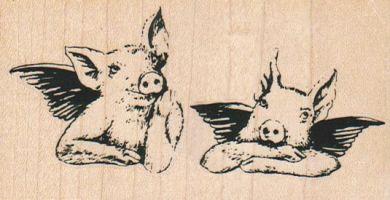 Angel Pigs 3 3/4 x 2-0