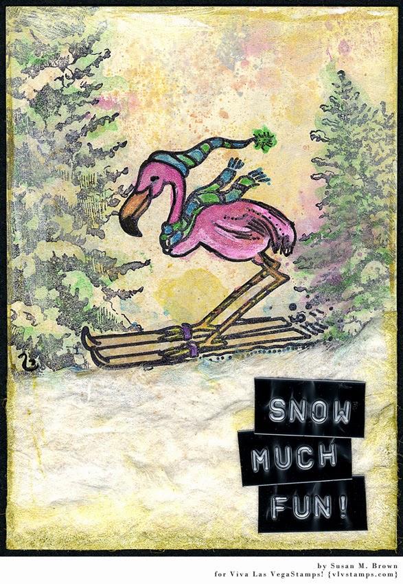 Flamingo Skiing 2 1/4 x 1 3/4-43394