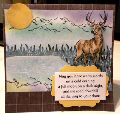 Deer Looking 2 1/4 x 3 1/2-34206