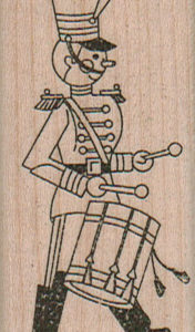 Toy Soldier/Drum 1 1/4 x 2 3/4-0
