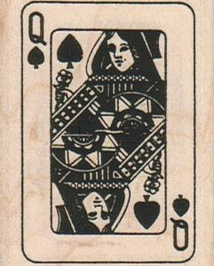 Queen Of Spades 1 3/4 x 2 1/4-0