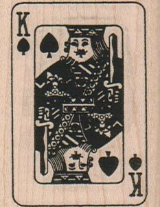 King Of Spades 1 3/4 x 2 1/4-0