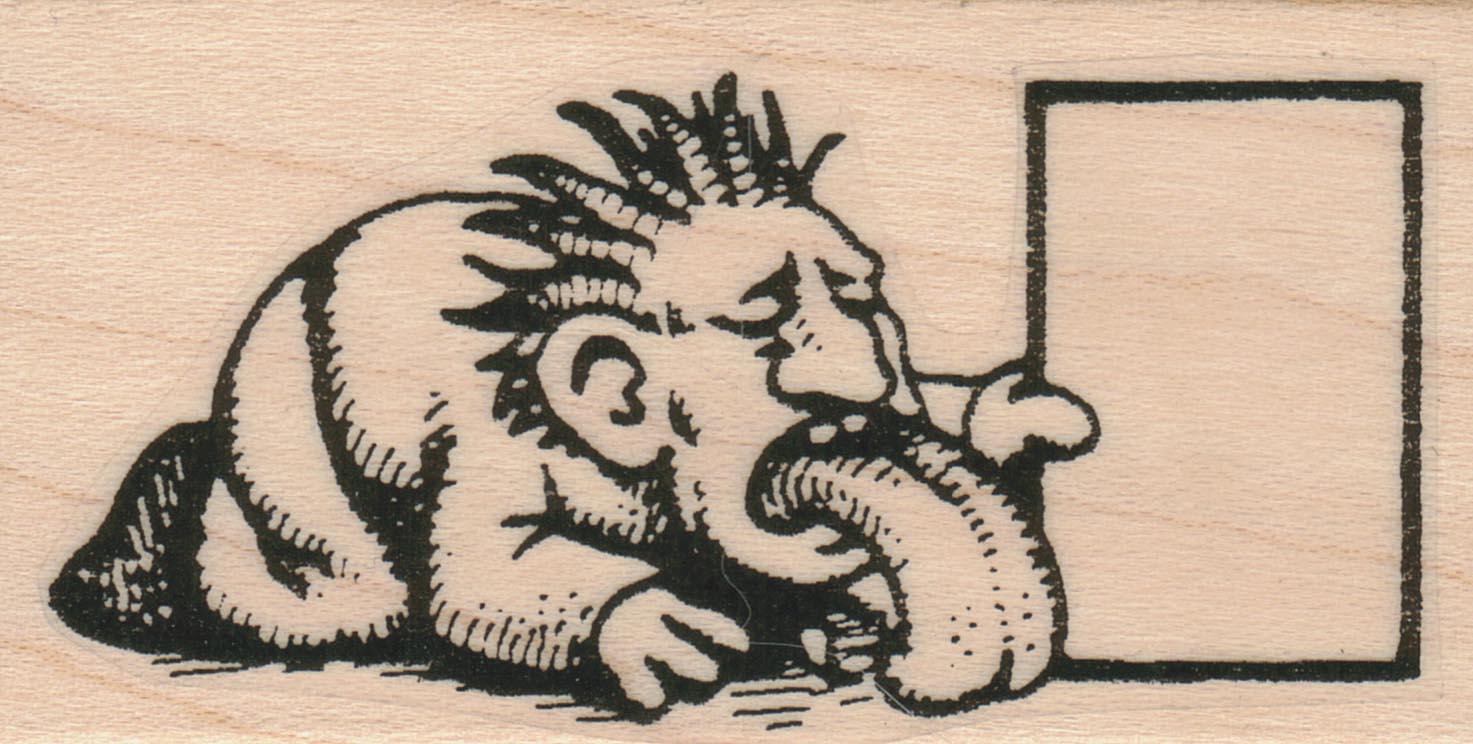 Man Licking Stamp 1 1/2 x 2 1/2