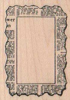 Newspaper Print Stamp Border 1 3/4 x 2 1/4