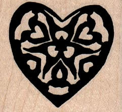 Heart With Heart Design 1 3/4 x 1 1/2-0