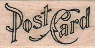 Post Card Fancy 1 1/4 x 2 1/4