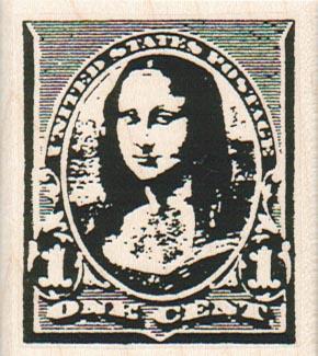United States Mona Lisa Postage 2 x 2 1/4