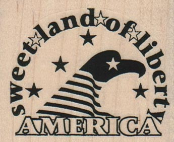Sweet Land Of Liberty 2 1/2 x 2