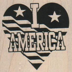 I Heart America 2 1/4 x 2 1/4-0