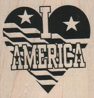 I Heart America 2 1/4 x 2 1/4