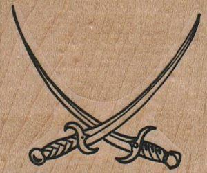 Crossed Swords 2 1/4 x 2-0
