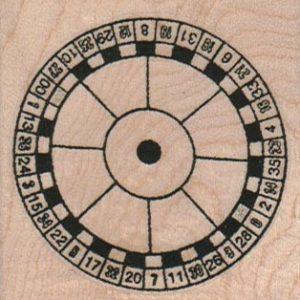 Roulette Wheel 2 1/4 x 2 1/4-0