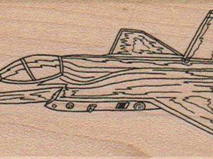 Jet Fighter Plane 1 3/4 x 4-0