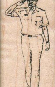 Saluting Navy Man 1 1/2 x 3-0