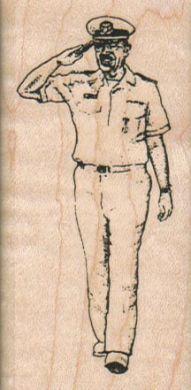 Saluting Navy Man 1 1/2 x 3