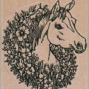 Horse With Wreath 2 1/4 x 2 1/2-0