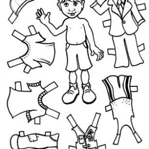 Boy Paper Doll Set (Unmounted)-0