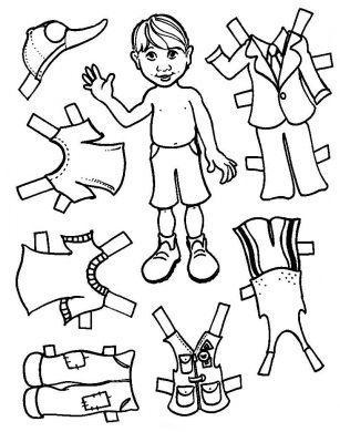 Boy Paper Doll Set (Unmounted)