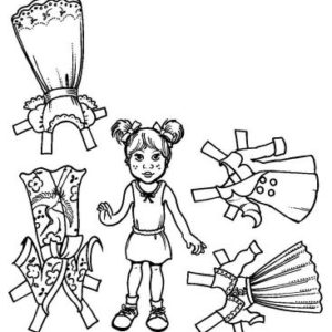 Girl Paper Doll Set (Unmounted)-0