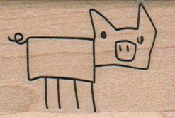 Stick Pig 1 1/4 x 1 3/4-0