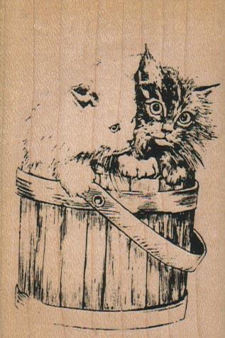 Kitties In Basket 2 1/4 x 3 1/4-0