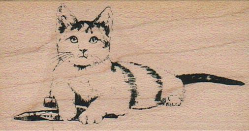 Crayon Kitty 2 x 3 1/2-0