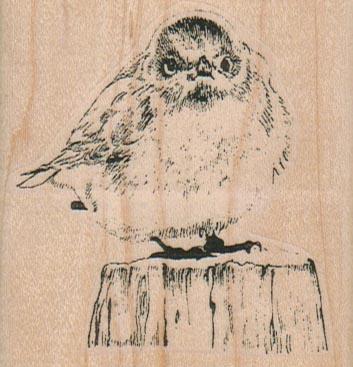 Bird on Stump 2 1/2 x 2 1/2-0