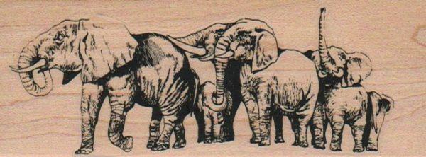 Elephant Herd 1 3/4 x 4 1/2-0
