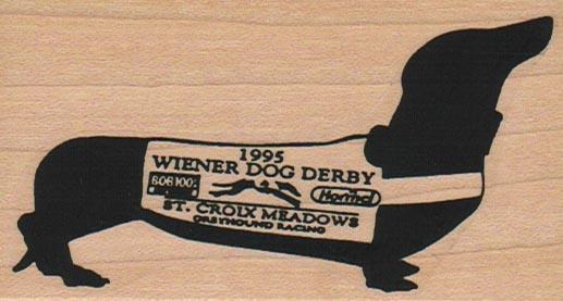 Dachshund Wiener Dog Derby 2 x 3 1/2-0