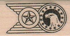 Eagle Insignia 1 x 1 3/4-0