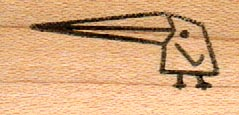 Stick Bird/Extra Long Beak 3/4 x 1 1/4-0