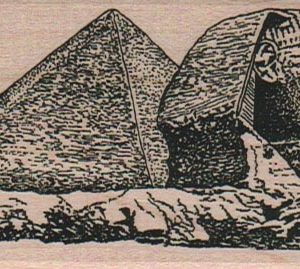 Sphinx And Pyramid 2 x 4 1/4-0