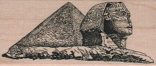 Sphinx And Pyramid 2 x 4 1/4