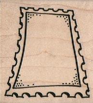 Postage Stamp Outline 2 1/4 x 2