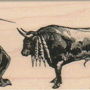 Matador With Bull 2 1/4 x 4-0