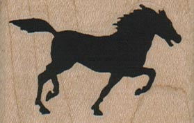 Silhouette Horse 2 x 1 1/4-0
