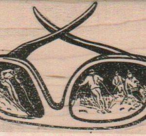Skiiers On Sunglasses 2 1/2 x 3 1/4-0