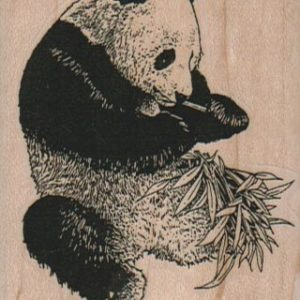 Panda Eating Bamboo 2 1/4 x 2 3/4-0