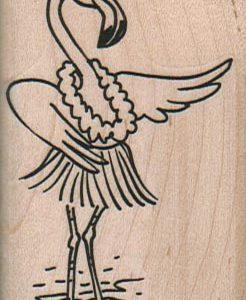 Hula Flamingo 1 3/4 x 2 3/4-0