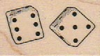 Two Dice 1 x 1 1/2-0